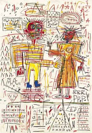Jean-Michel Basquiat Self-Portrait with Suzanne,.jpg